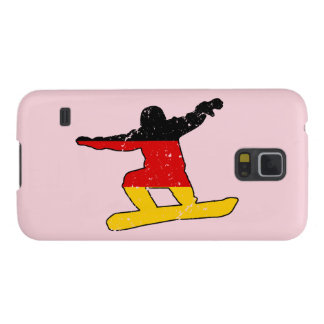 German flag SNOWBOARDER (blk) Cases For Galaxy S5