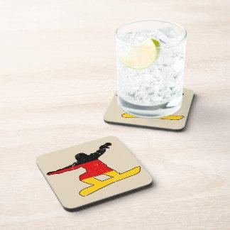 German flag SNOWBOARDER (blk) Coaster
