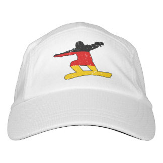 German flag SNOWBOARDER (blk) Hat