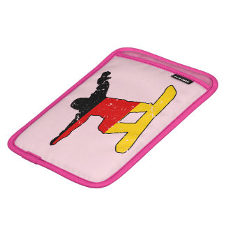 German flag SNOWBOARDER (blk) iPad Mini Sleeve