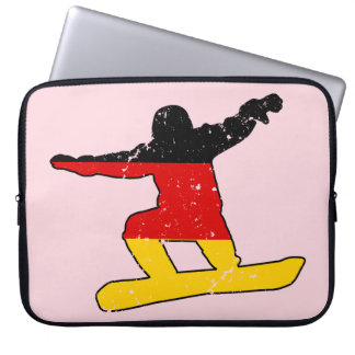 German flag SNOWBOARDER (blk) Laptop Sleeve