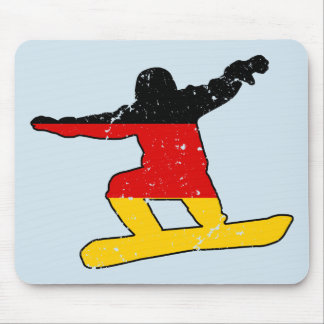German flag SNOWBOARDER (blk) Mouse Pad