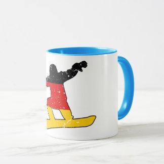 German flag SNOWBOARDER (blk) Mug