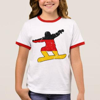 German flag SNOWBOARDER (blk) Ringer T-Shirt