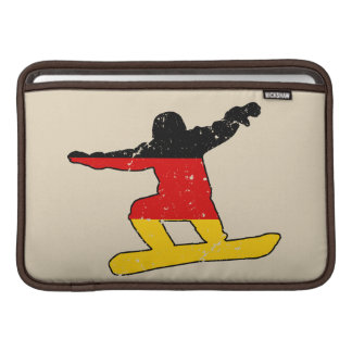 German flag SNOWBOARDER (blk) Sleeve For MacBook Air