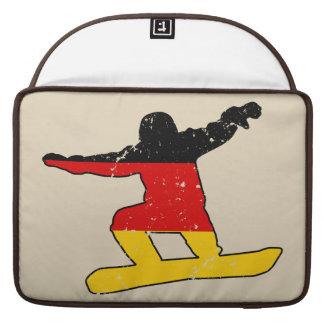 German flag SNOWBOARDER (blk) Sleeve For MacBooks