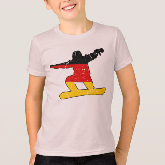 German flag SNOWBOARDER (blk) T-Shirt