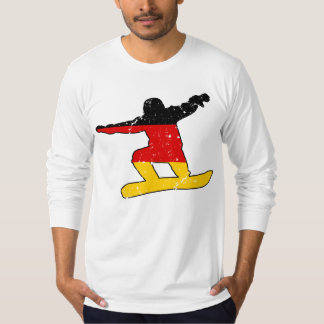 German flag SNOWBOARDER (blk) T-Shirt