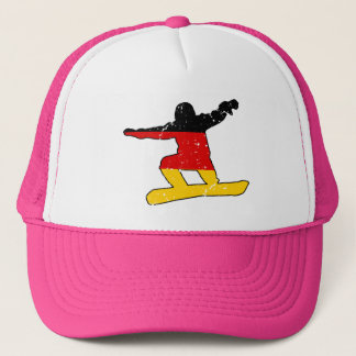 German flag SNOWBOARDER (blk) Trucker Hat