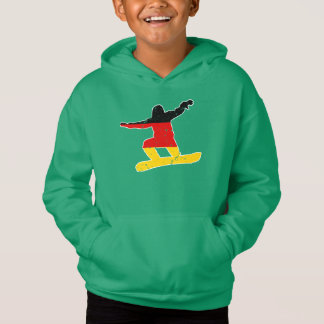 German flag SNOWBOARDER (wht)
