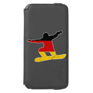 German flag SNOWBOARDER (wht) Incipio Watson™ iPhone 6 Wallet Case