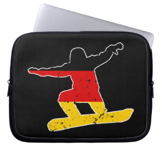 German flag SNOWBOARDER (wht) Laptop Sleeve