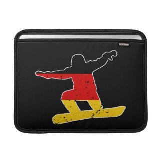 German flag SNOWBOARDER (wht) MacBook Air Sleeves