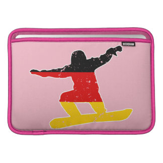 German flag SNOWBOARDER (wht) MacBook Sleeve