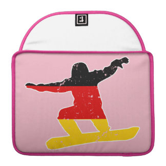 German flag SNOWBOARDER (wht) Sleeve For MacBooks
