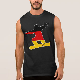 German flag SNOWBOARDER (wht) Sleeveless Shirt