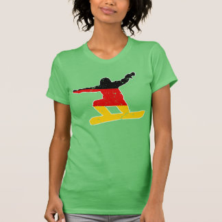 German flag SNOWBOARDER (wht) T-Shirt