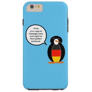 German Flag Talking Penguin Tough iPhone 6 Plus Case