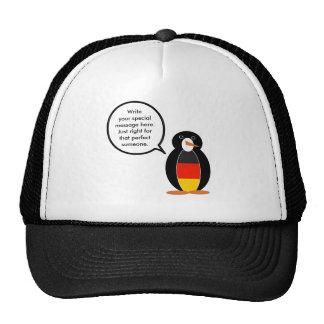 German Flag Talking Penguin Trucker Hat