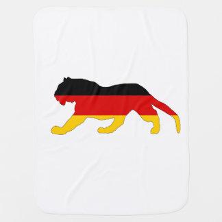 German Flag - Tiger Baby Blanket