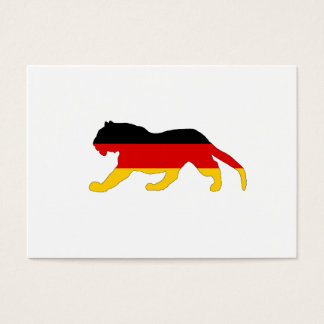 German Flag - Tiger Business Card