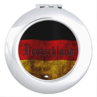 German flag - Vintag Makeup Mirror