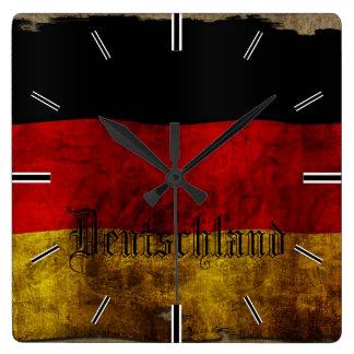 German flag - Vintage… Square Wall Clock