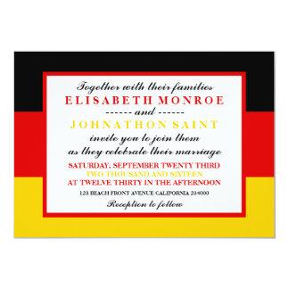 German Flag Wedding Card