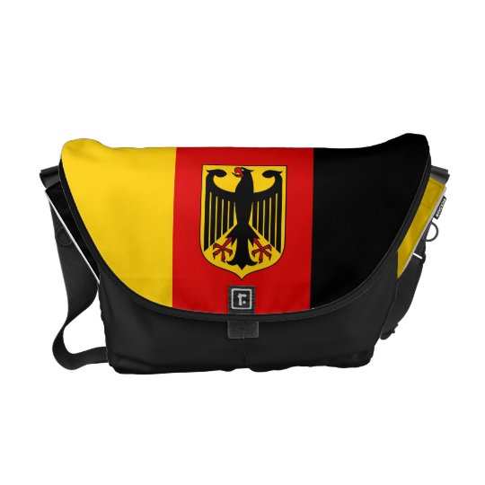 German Flag with Crest Messenger Bag