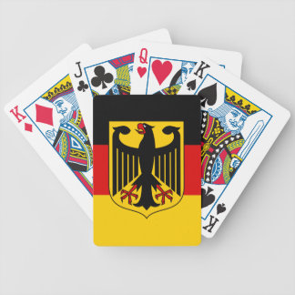 German Flag With Crest Playing Cards