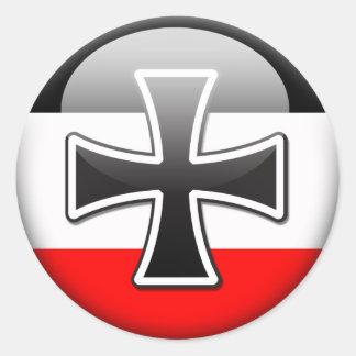 German Flag WWI Classic Round Sticker