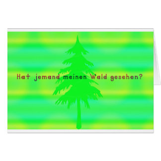 German -Forest Card