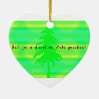 German -Forest Ceramic Ornament