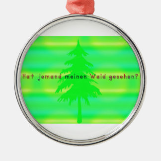 German -Forest Metal Ornament