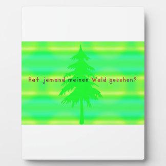 German -Forest Plaque