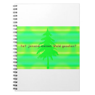 German -Forest Spiral Notebook
