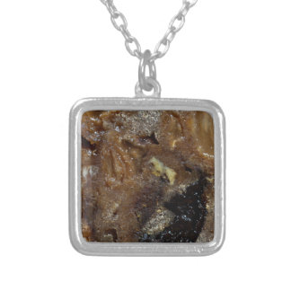 German fruit bread silver plated necklace