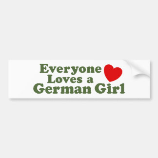 German Girl Bumper Sticker