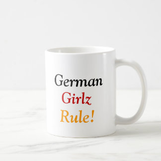 German, Girlz, Rule! Basic White Mug