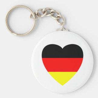 German Heart Basic Round Button Keychain