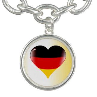 German heart charm bracelet