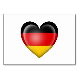 German Heart Flag on White Card