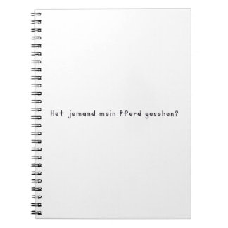 German -Horse Notebook