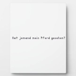German -Horse Plaque