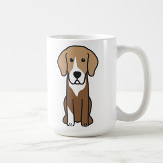 German Hound Dog Cartoon Coffee Mug