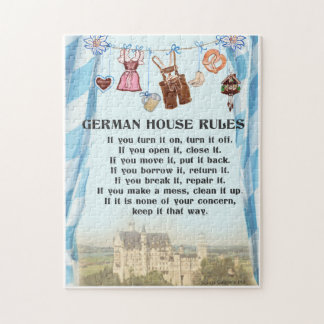 German House Rules Puzzle Jigsaw