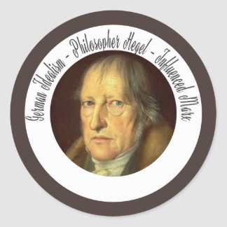German Idealist Philosopher Georg Hegel Classic Round Sticker