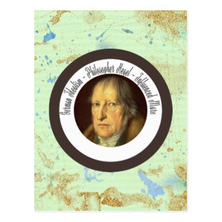 German Idealist Philosopher Georg Hegel Postcard