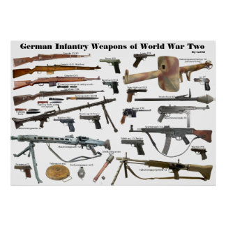 German Infantry Weapons of WW2 Poster