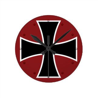 German Iron Cross Wallclock